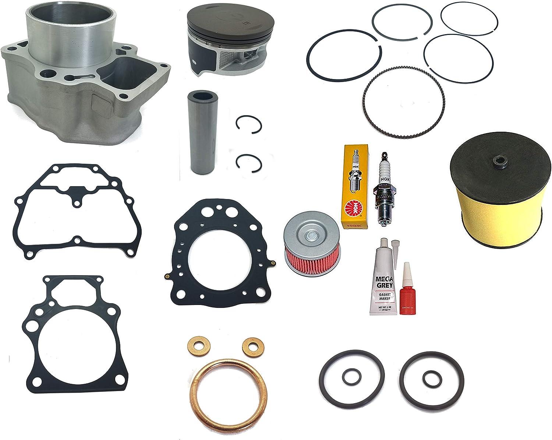 Cylinder Top End Kit For 2007-2018 Honda TRX 420 Rancher Air Filter Oil Filter Piston Gasket Kit