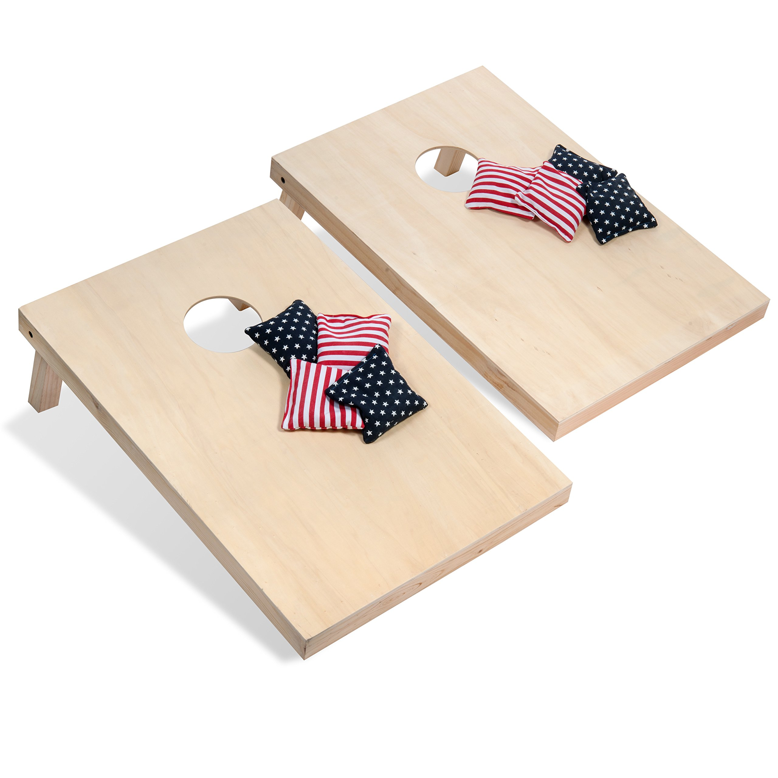 Tailgating Pros Cornhole Boards - 4'x2' & 3'x2' Cornhole Game w/Carrying Case & Set of 8 Corn Hole Bags - 150+ Color Combos! Optional LED Lights by Tailgating Pros (Image #7)