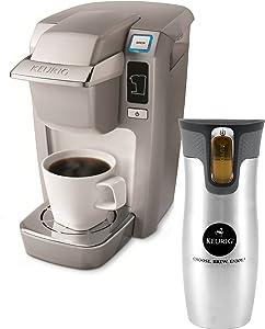 Keurig K10 Mini Plus Platinum Single Cup Personal Brewer with Stainless Steel Travel Mug