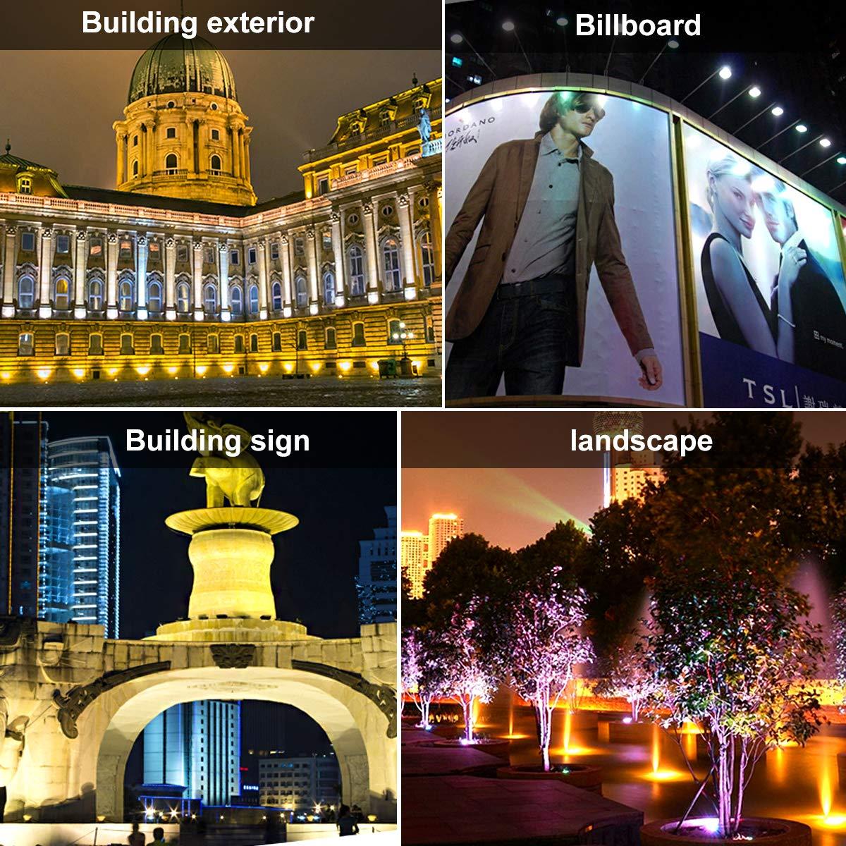 decoraci/ón navide/ña Foco 50W LED RGB con control remoto,proyector IP67 impermeable LED para exteriores Proyector LED 16 colores 4 modos LED reflector Luces de humor para Halloween