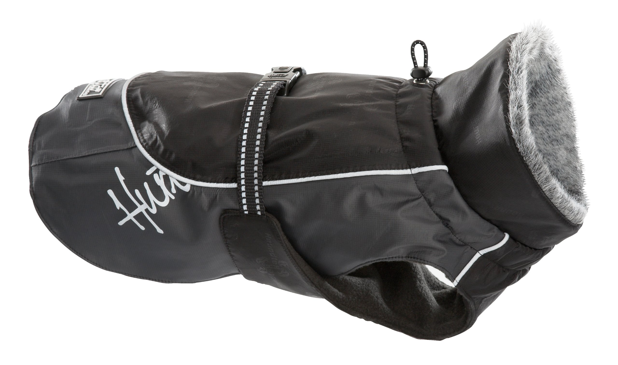 Hurtta Pet Collection Winter Jacket, 9-Inch Length, 12-14-Inch Neck, 14-18-Inch Chest, Black
