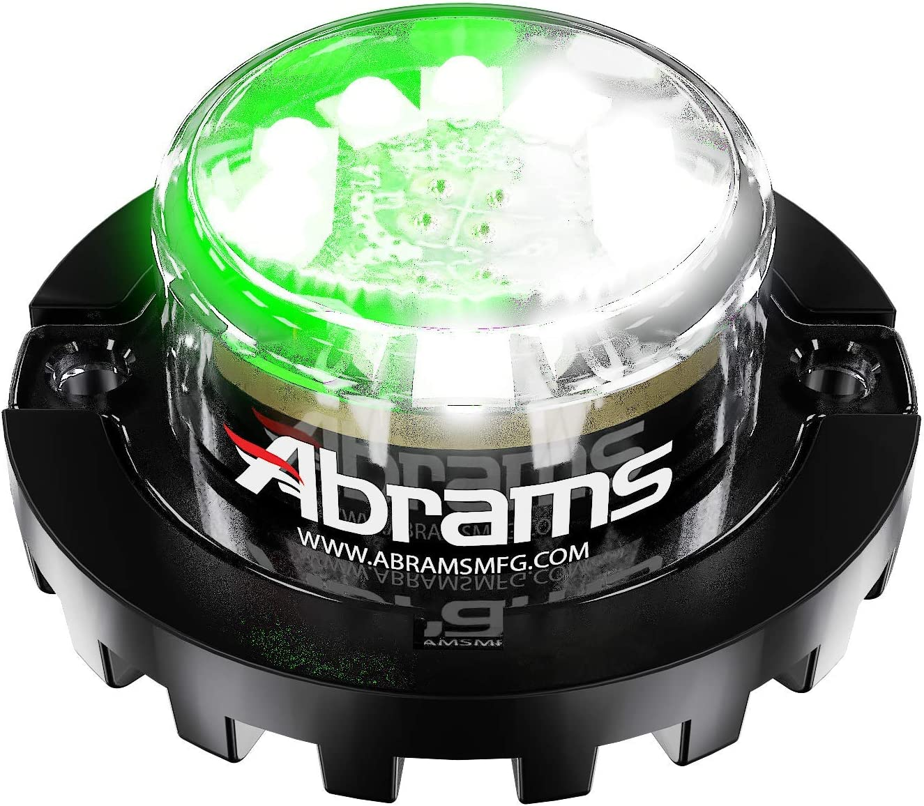 18W Red//Red 6 LED Firefighter POV Emergency Vehicle Truck LED Hideaway Surface Mount Strobe Warning Light Abrams SAE Class-1 Blaster 360