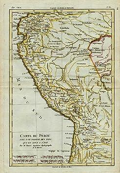 Mapa Antiguo Sur Theprintscollector America Peru Lima Bonne 1780 Amazon Es Hogar