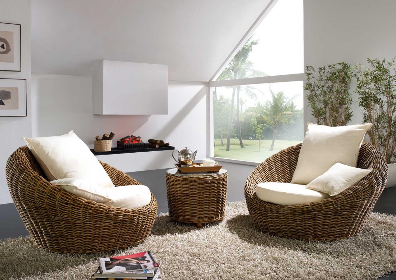 Unglaublich Rattanmöbel Wohnzimmer Ideen Von Rattansessel Rund Lounge Insel Rattan A Rundsofa