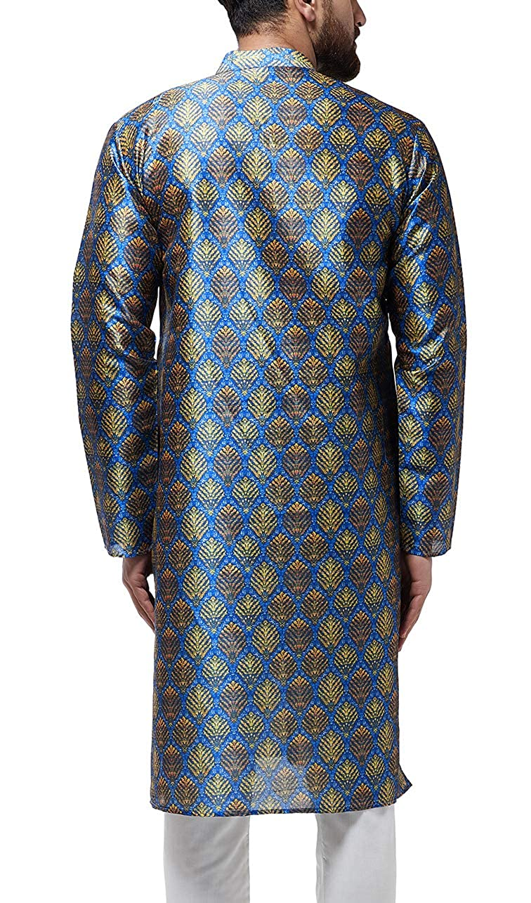 Festival-Men-Dupion-Silk-Kurta-Pajama-Ethnic-Party-Wear-Bollywood-Dress-Pyjama thumbnail 12