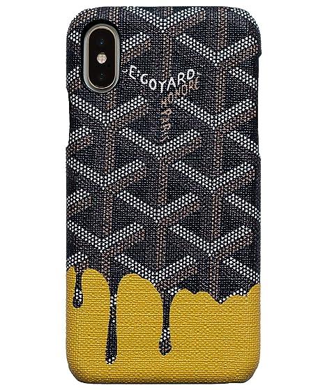 best service 7a64b a13d6 Amazon.com: iPhone X/XS Goyard Drip Black and Yellow Hustler iPhone ...
