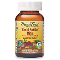 MegaFood, Blood Builder Minis, Daily Iron Supplement and Multivitamin, Supports...