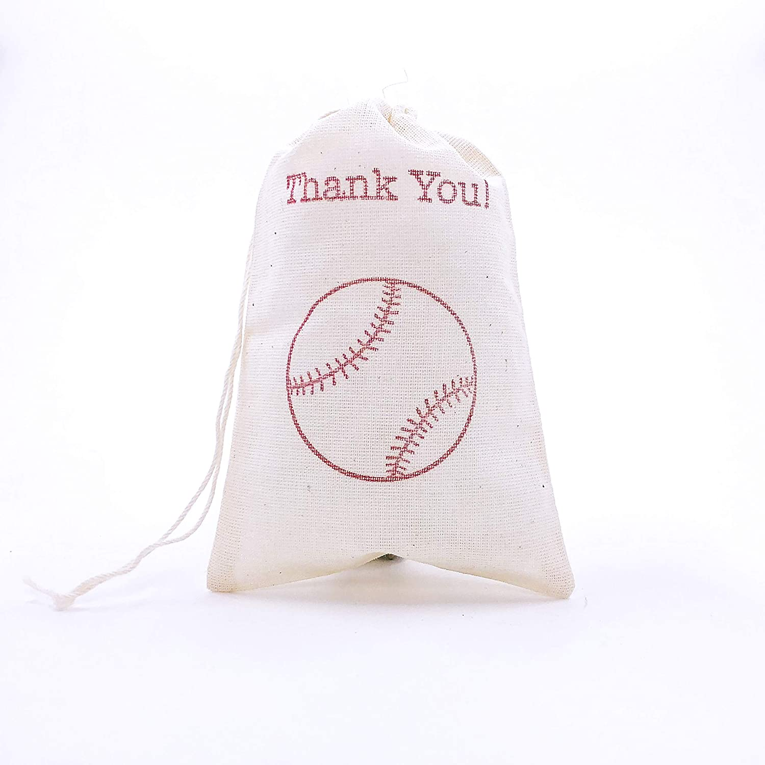 96 PERSONALIZED Vintage Muslin Favor Bags Baby Shower Wedding Favors