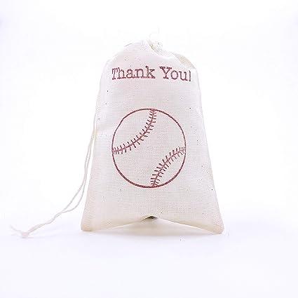 Image Unavailable  sc 1 st  Amazon.com & Amazon.com: Thank You Baseball Favor Bag Boy Birthday Sports Theme ...