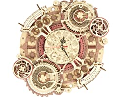 ROKR 3D Wooden Puzzle for Adult,DIY Wall Quartz Clock Kits,Mechanical Model Kits and Gift for Kids,Beautiful Room Decoration(