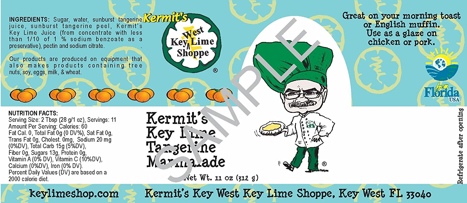 Amazon.com : Tangerine Marmalade 11.5oz Kermit\'s Key West from Key ...