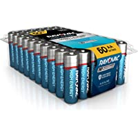 60-Count Rayovac High Energy Alkaline AA or AAA Batteries