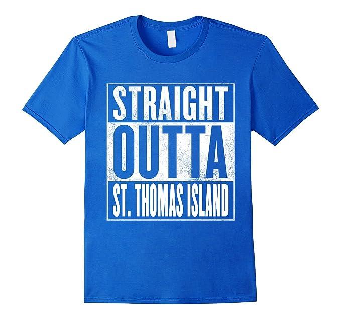 amazon com straight outta st thomas island shirt clothing