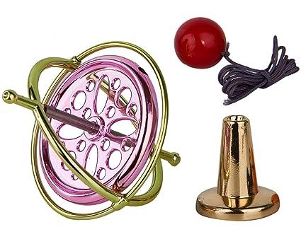 Joytech Precision Gyroscope Metal Balance Toy Anti-Gravity Brass Wheel Gold  Rim Spinning Top AG003