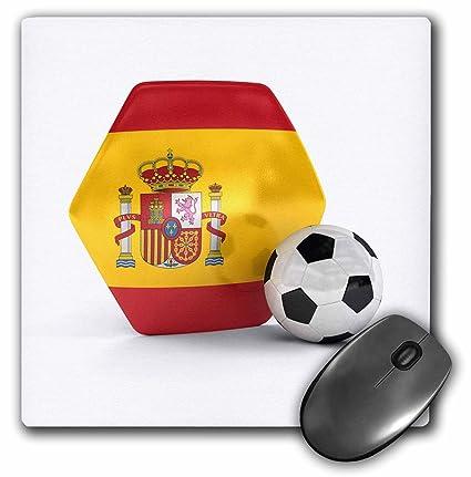 3dRose España Portugal Balón de fútbol ratón Pad, 8