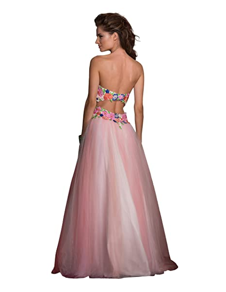 b2776dbdf3b Amazon.com  Clarisse Women s Strapless Floral Ball Gown Prom Dress 2531   Clothing
