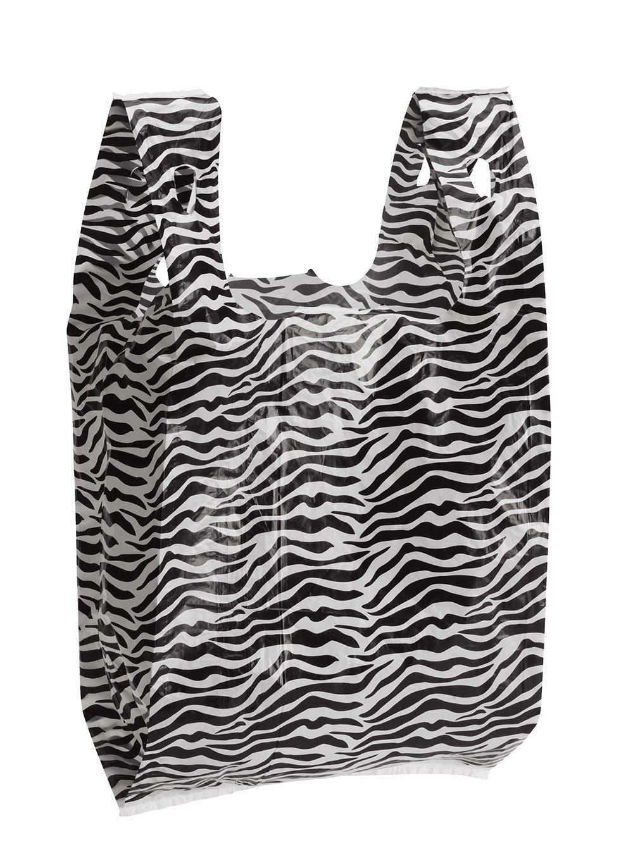 Zebra Print Plastic T-Shirt Bags - Case of 1,000