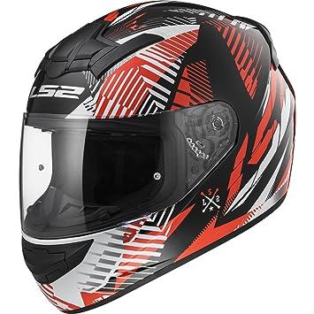 LS2- Casco para moto, FF352 Rookie Infinite, blanco/negro/rojo