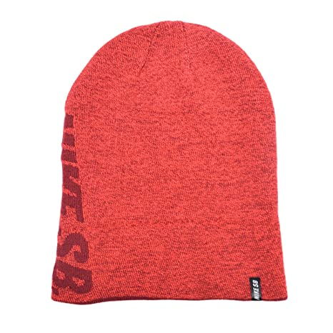 b6c23aa17af Image Unavailable. Image not available for. Color  Nike SB Reversible Beanie  708911 - Red Wine Red