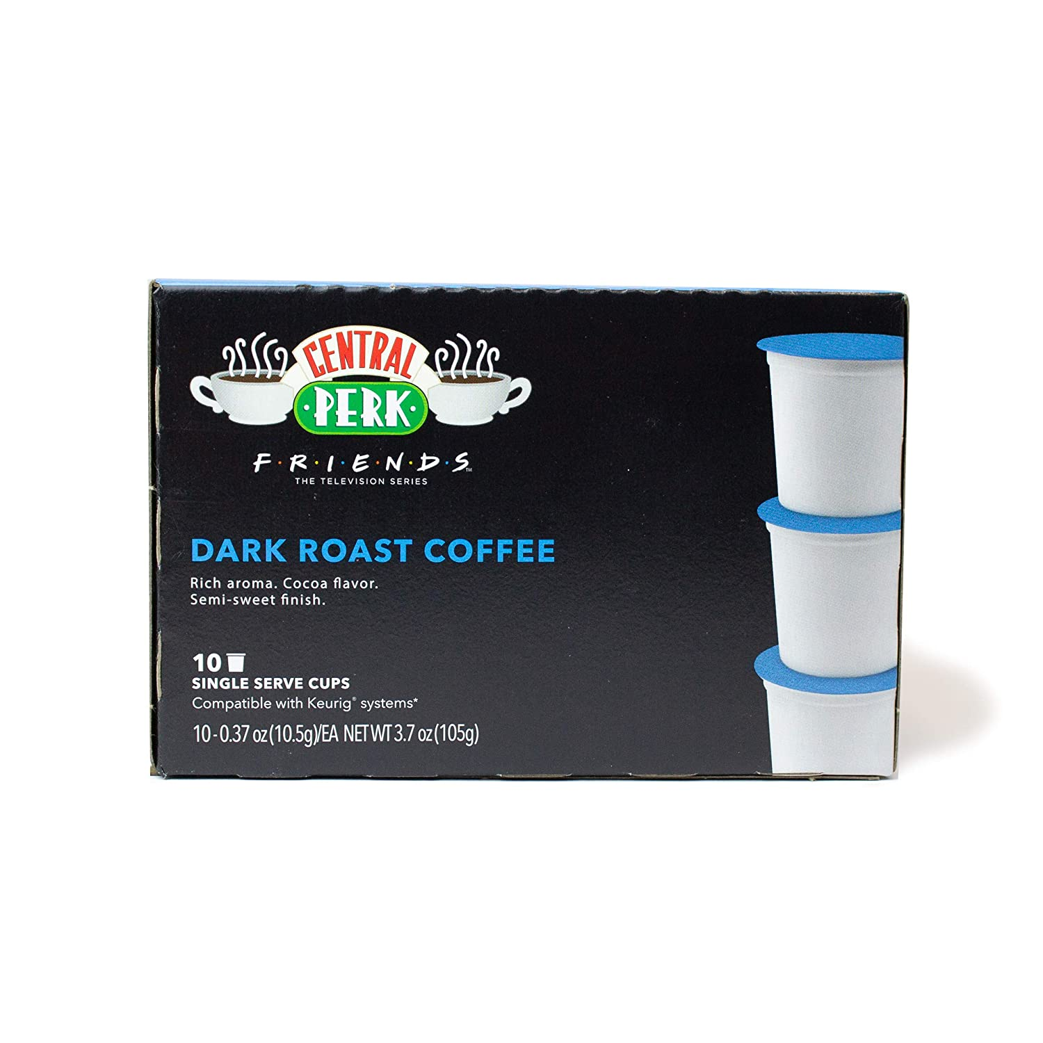 """""""Friends"""" 25th Anniversary Limited Edition Central Perk Dark Roast K-Cups (10 ct) for use with Keurig Compatible Single Serve Machines"""