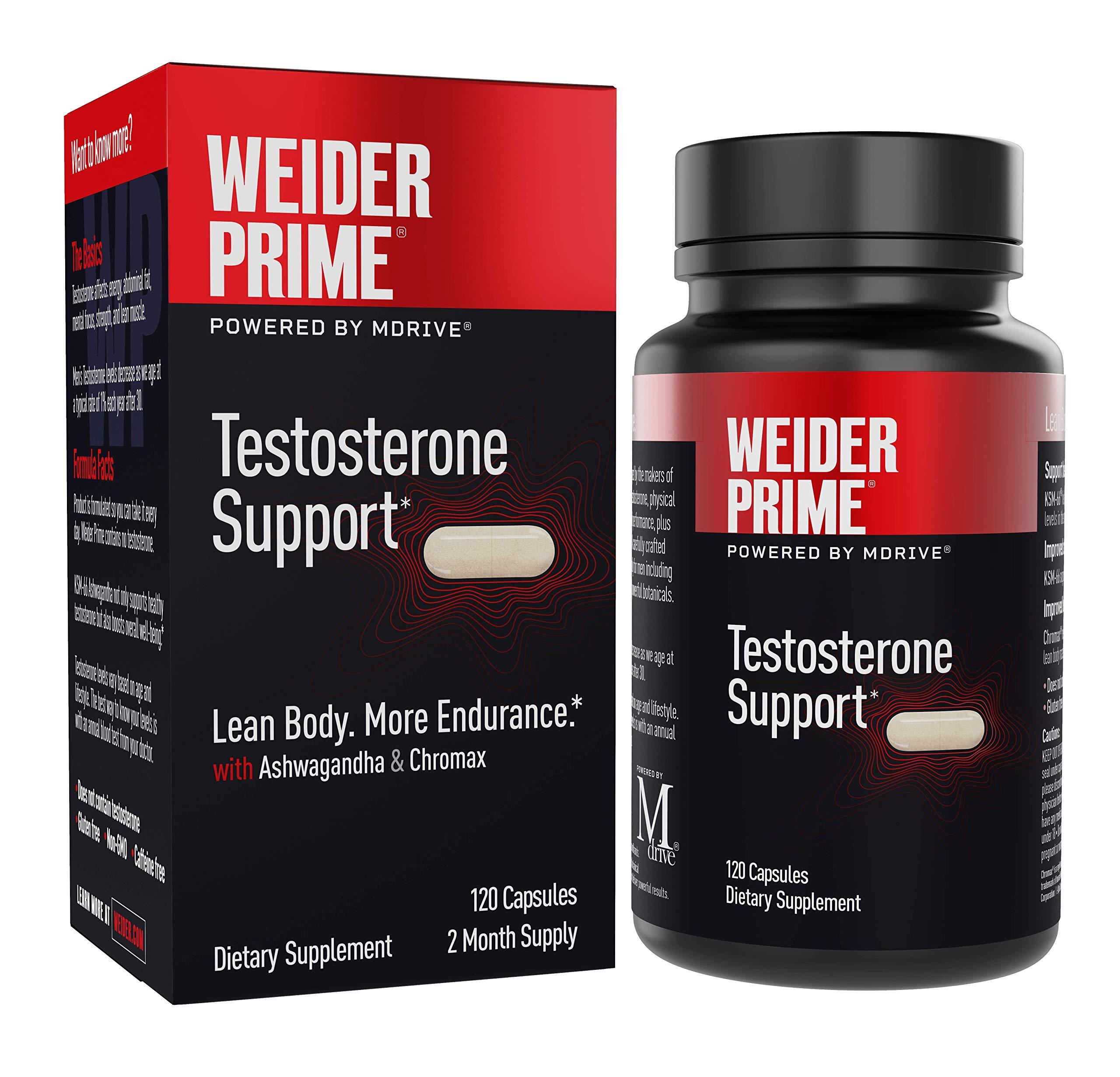 Weider Prime Testosterone Supplement for Men Healthy Testosterone Support to Help Boost