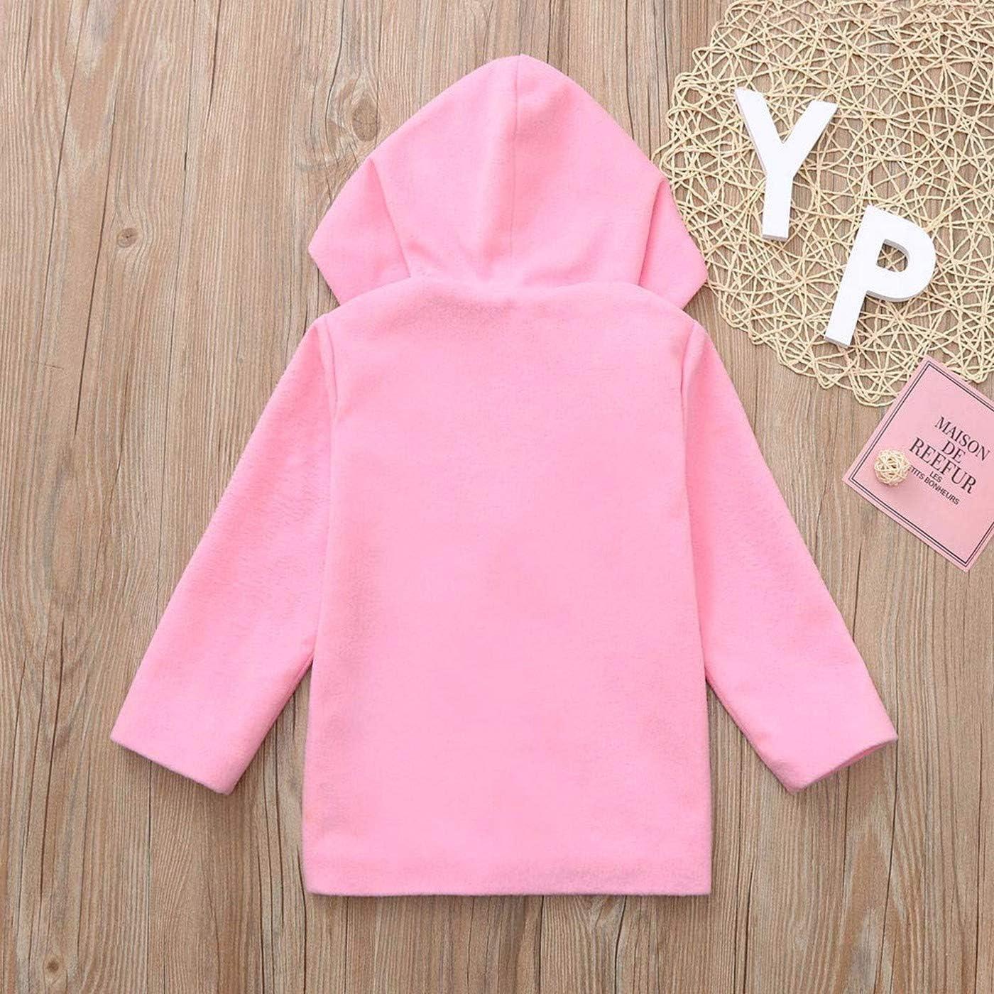 Carlos Foushee Baby Girl Cloak Jacket Thick Warm Outerwear Winter Hoodie Coat Overcoat