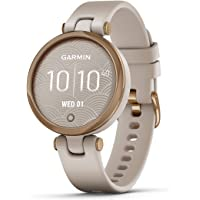 $199 » Garmin Lily, Small GPS Smartwatch with Touchscreen and Patterned Lens, Rose Gold and Light Tan