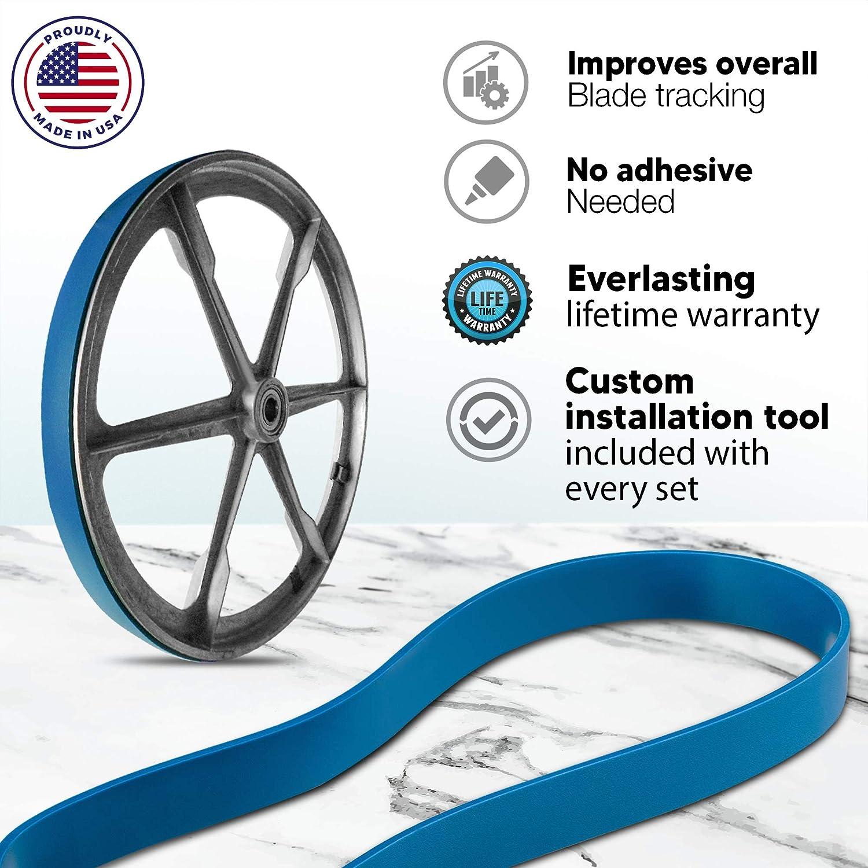 2 Bleu MAX uréthane bande scie pneus pour PONTEL Limited 55-6725-0 scie à ruban