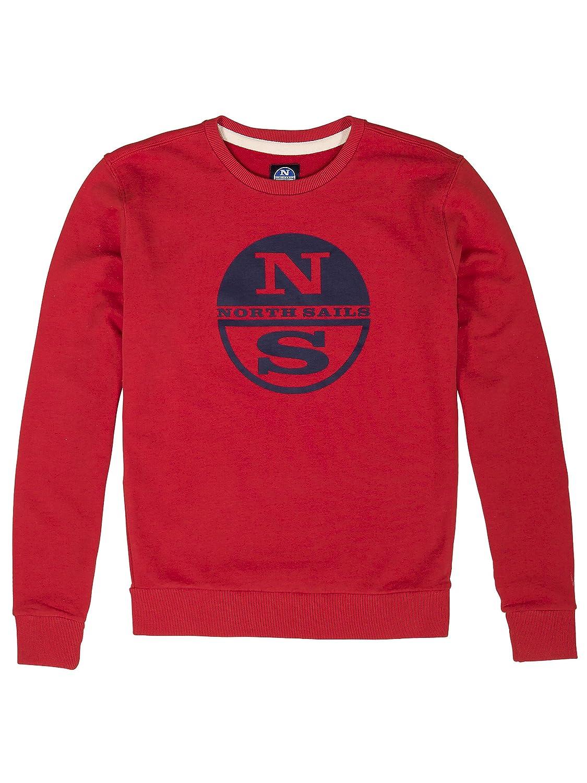 North Sails Herren Niedrigell Vlies Sweater Mit Logo Und Rundhalsausschnitt - L