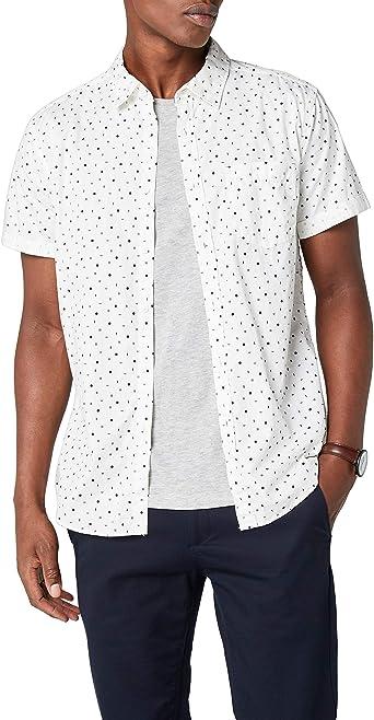 edc by Esprit 048cc2f005 Camisa, Blanco (White 100), Large para Hombre: Amazon.es: Ropa y accesorios