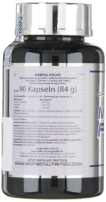 Scitec Nutrition Mental Focus 90 cápsulas: Amazon.es: Alimentación y bebidas