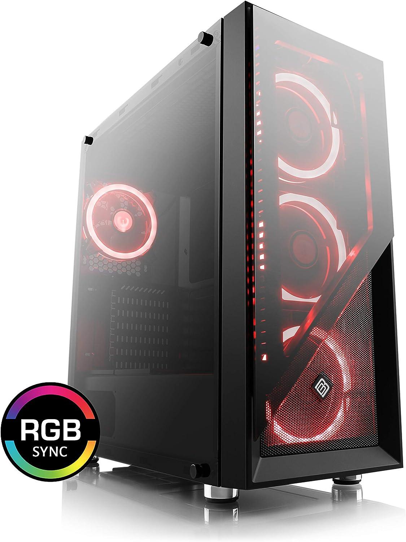 Boost Boxx Argo Gaming Pc Gehäuse Aus Echtglas Mit 4 Computer Zubehör