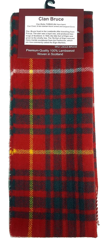 Bruce Modern Tartan Lambswool Scarf-Made in Scotland