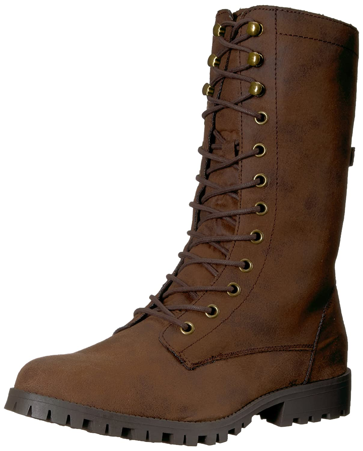 Sugar Women's Tegan Lace-up Mid-Calf Combat Boot B076591V9L 10.5 B(M) US|Brown