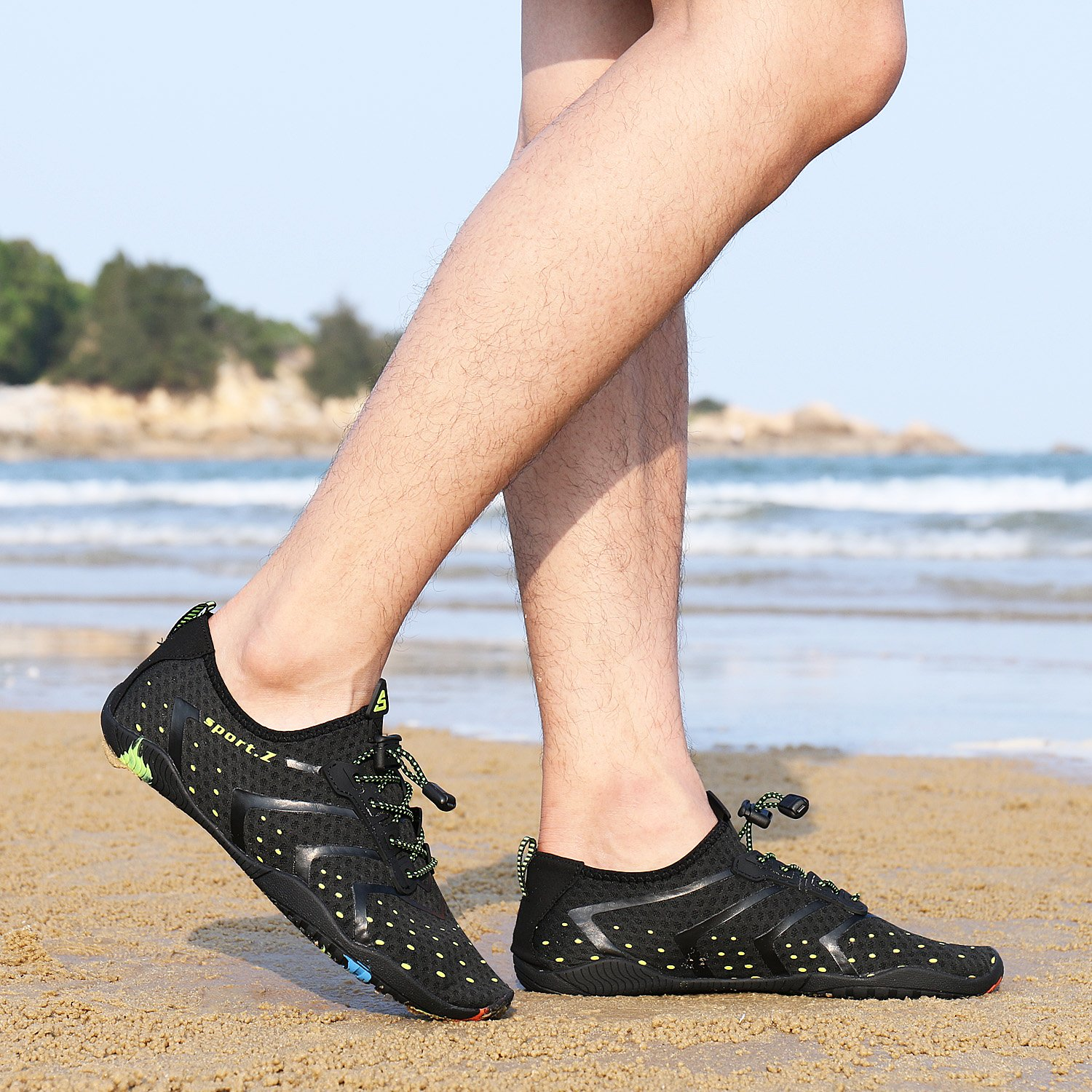 WXDZ Athletic Aqua Sock Water Shoes for Water Sport Beach Pool Boat Surfing Diving by WXDZ (Image #6)