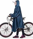 GXQ-S レインコート 自転車 バイク ロングポンチョ フリーサイズ 雨具 通勤 通学 男女兼用