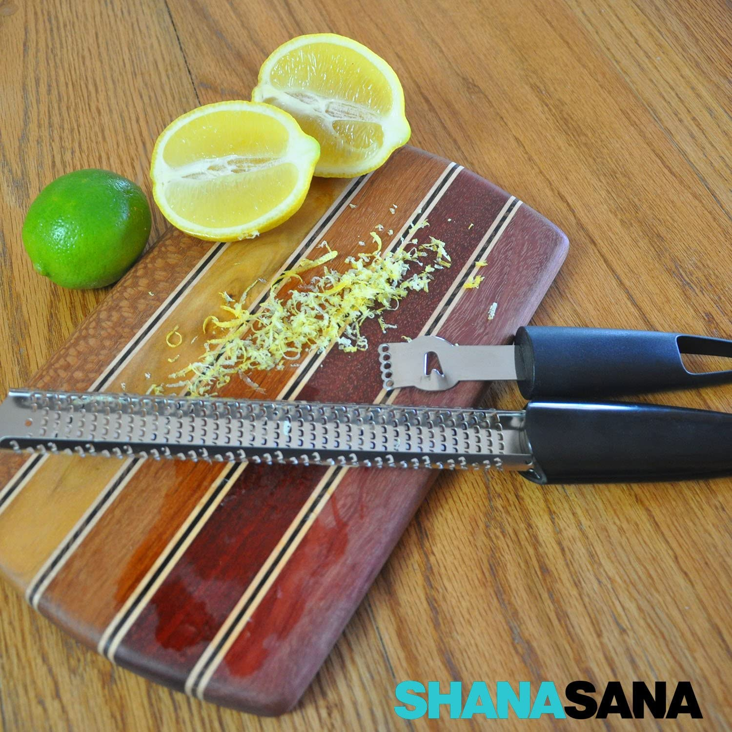 Compact Lemon Zester HEAVY DUTY STAINLESS STEEL Oranges and Other Citrus Fruits Perfect for Zesting Lemons