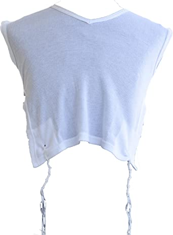 Jerusalem Tzizit Adult Sizes Kosher Tzitzit Jewish Shirt Tzitzis 100/% cotton Men