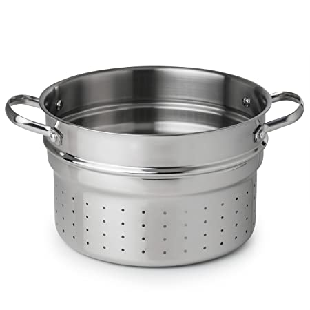 Revere Pasta insert Open Stock for 6.5 quart Stock Pots and Aluminum, One Size, Stainless Steel