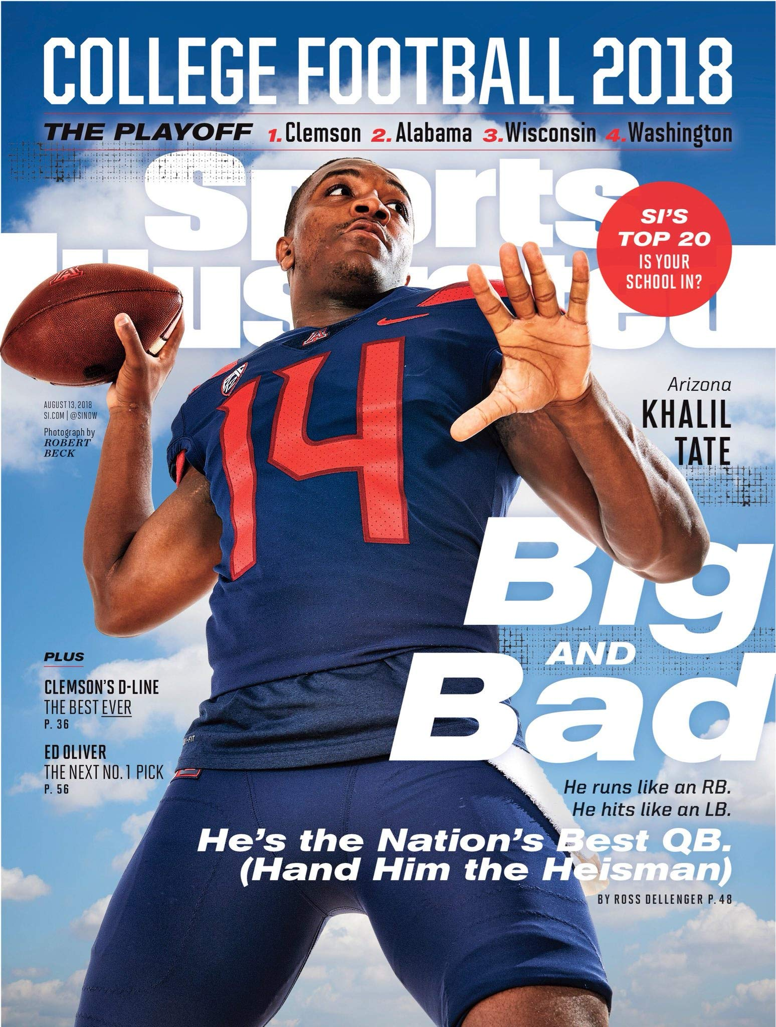 PosterWarehouse2017 Khalil Tate Featured ON Sports ILLUSTRATED'S College Football Preview Cover
