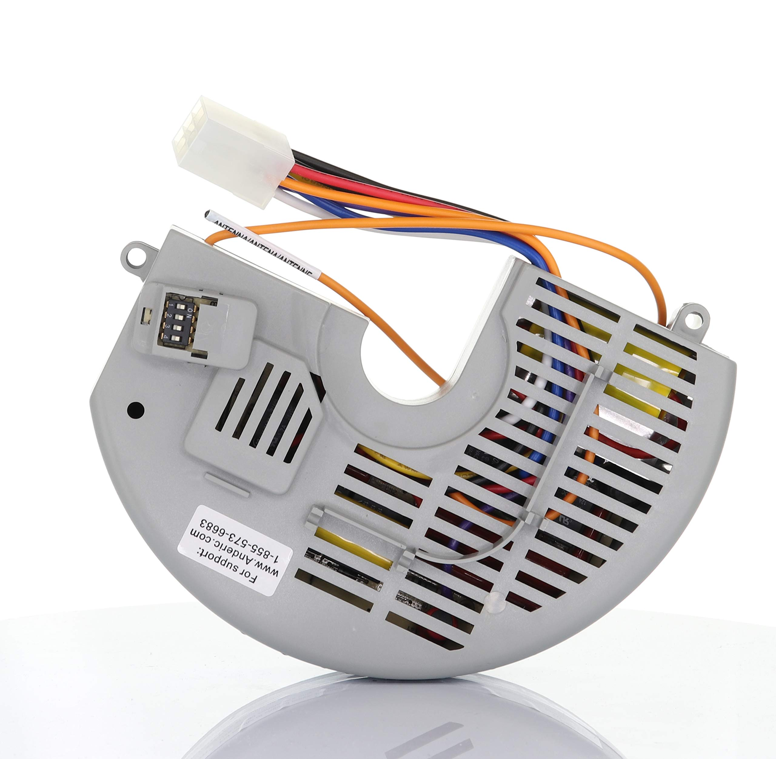 Anderic Replacement for Hampton Bay FAN10R Ceiling Fan Receiver (FAN-10R, Used with Hampton Bay FAN9T, FAN-9T Thermostatic Remote) - Controls Fan Reverse, High, Medium, Low, Off and Lights by Anderic
