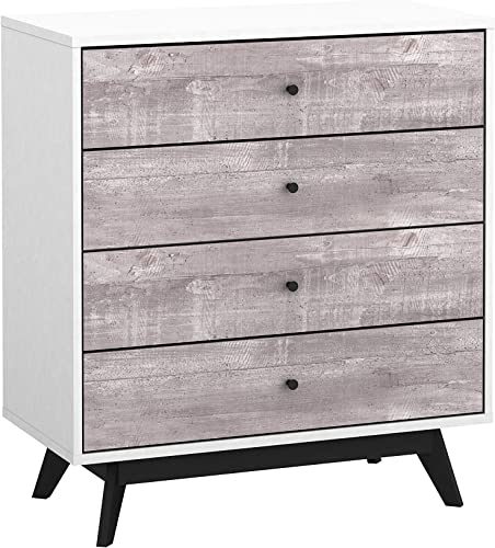The Mezzanine Shoppe Crislana Ultra Modern 4 Drawer Bedroom Chest Dresser