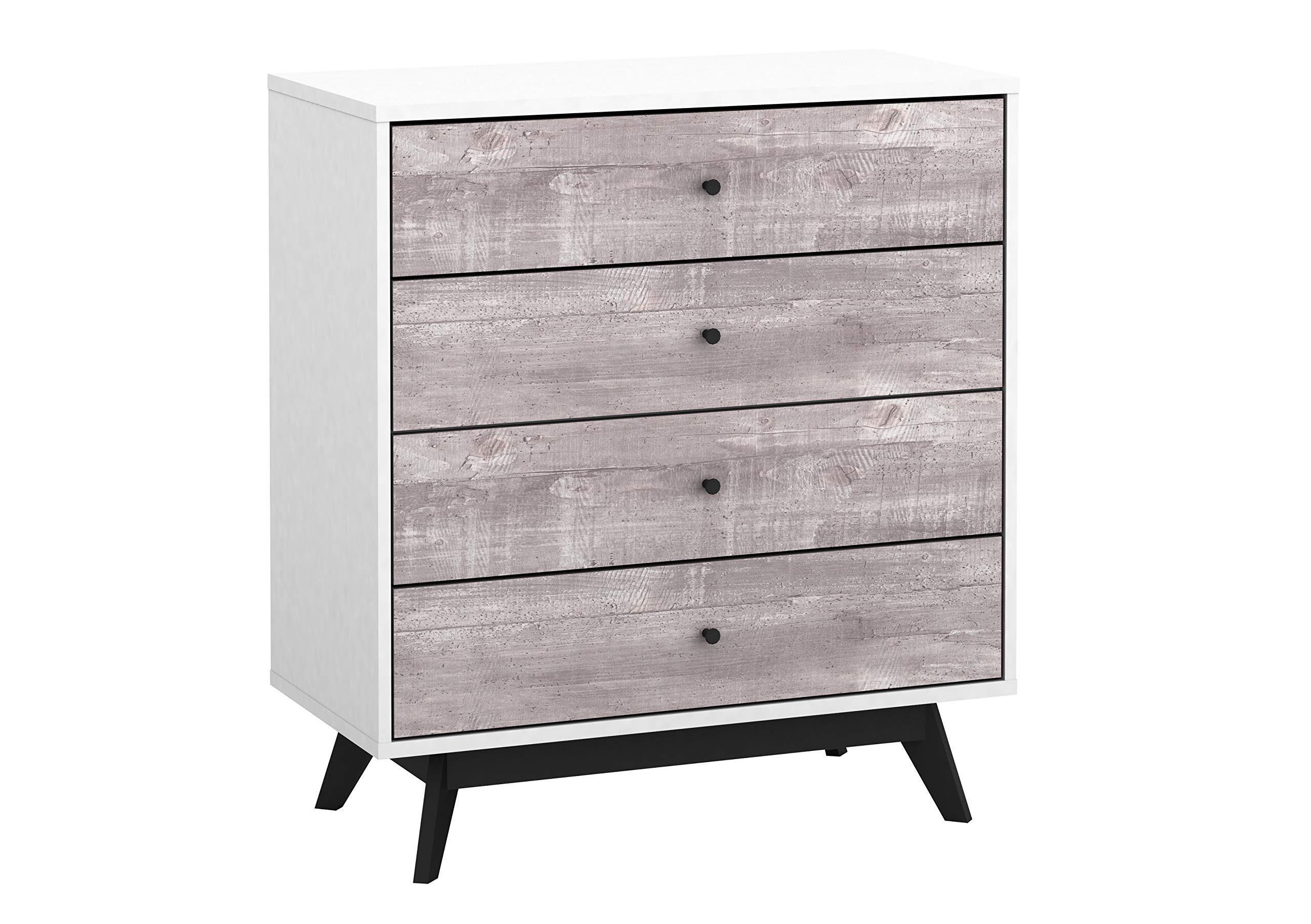 The Mezzanine Shoppe Crislana Ultra Modern 4 Drawer Bedroom Chest Dresser, 31.5'', Gray by The Mezzanine Shoppe