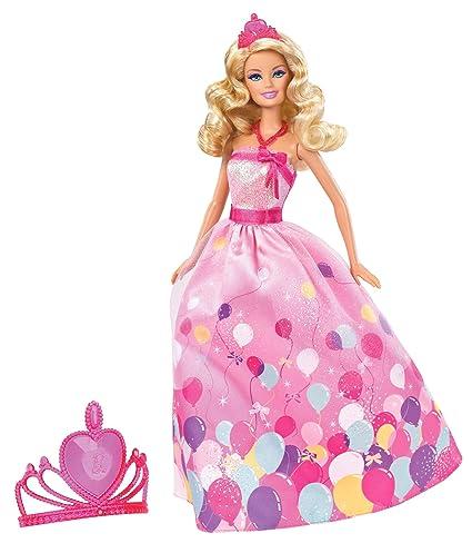 Amazon.com: Barbie Muñeca de princesa de cumpleaños Set de ...