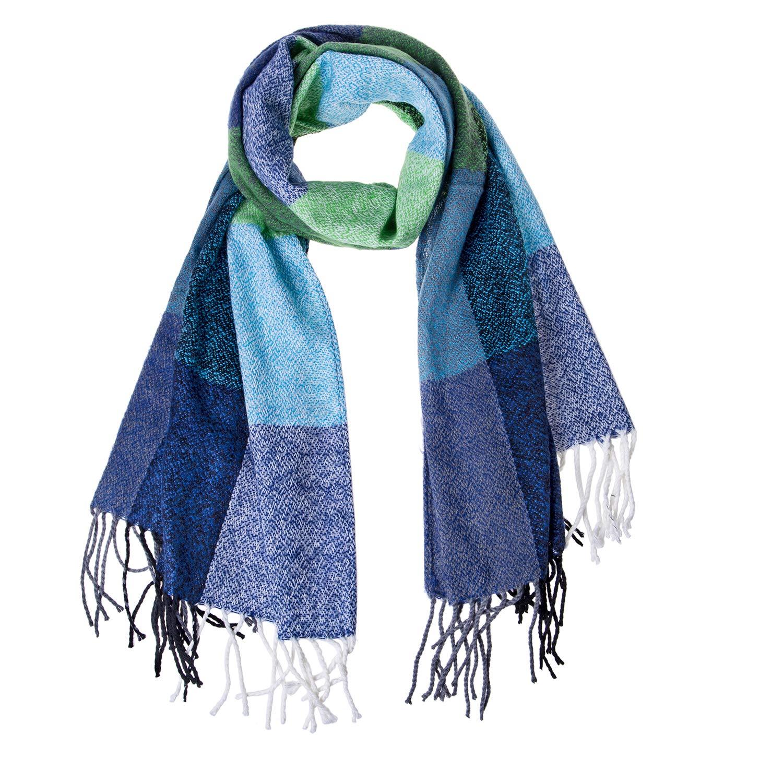 Loritta Womens Fashion Long Plaid Shawl Big Grid Winter Warm Lattice Large Scarf