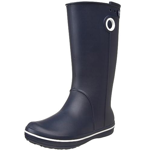 Crocs Women's Crocband Jaunt Rain Boot,Navy,4 ...