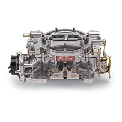 Edelbrock 1406 Performer 600 CFM Square Bore 4-Barrel Air Valve Secondary Electric Choke Carburetor: Automotive