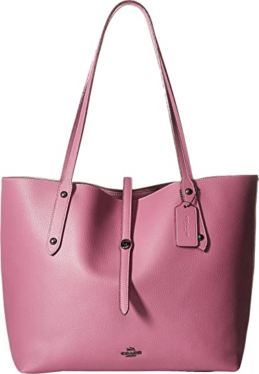 00916e71333e Amazon.com  COACH Women s Market Tote with Metallic Lining  Dk Primrose Metallic Blush One Size  Shoes