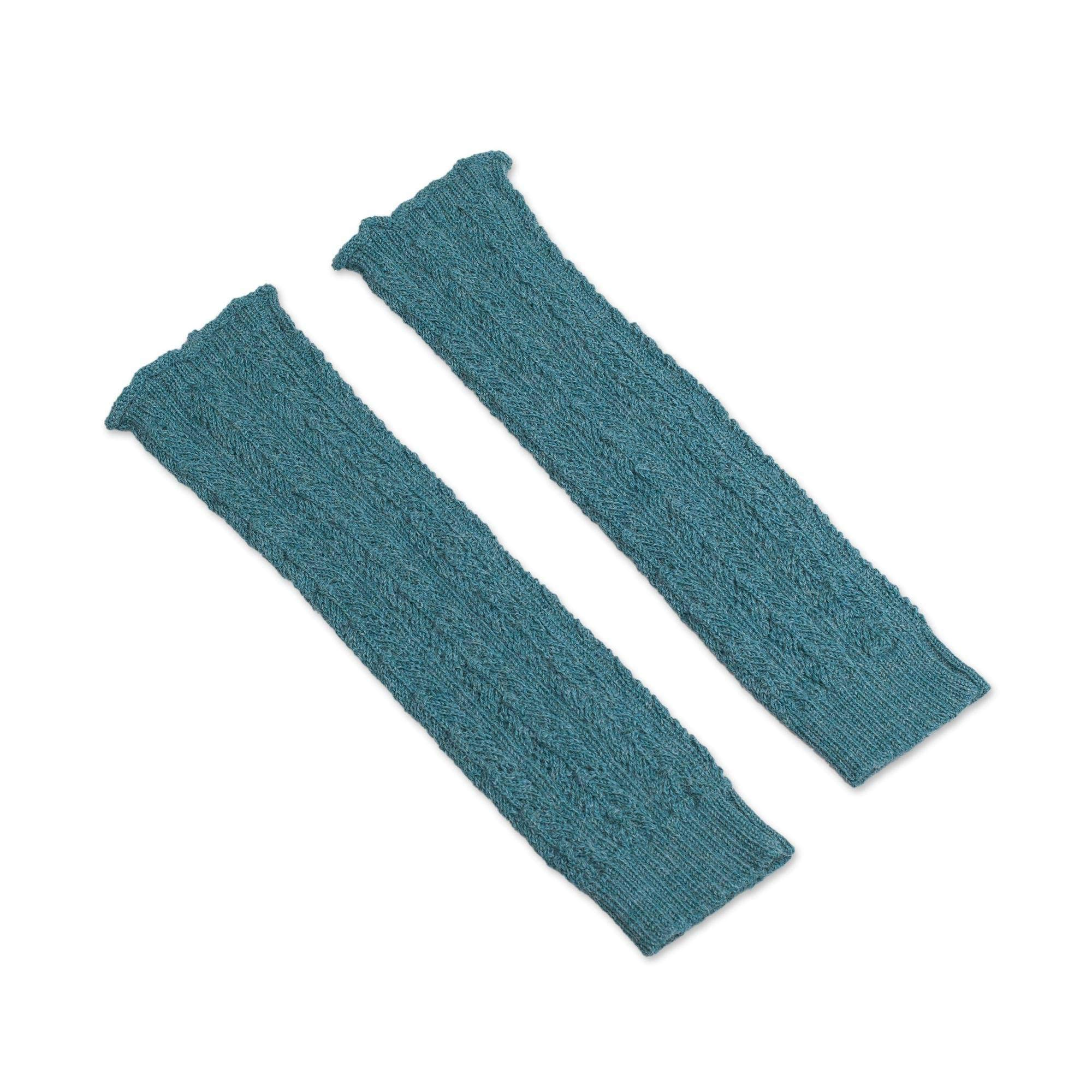 NOVICA Turquoise Blue 100% Alpaca Leg Warmers, River Rapids' by NOVICA
