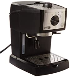 3. DeLonghi EC155 15 BAR Pump Espresso and Cappuccino Maker